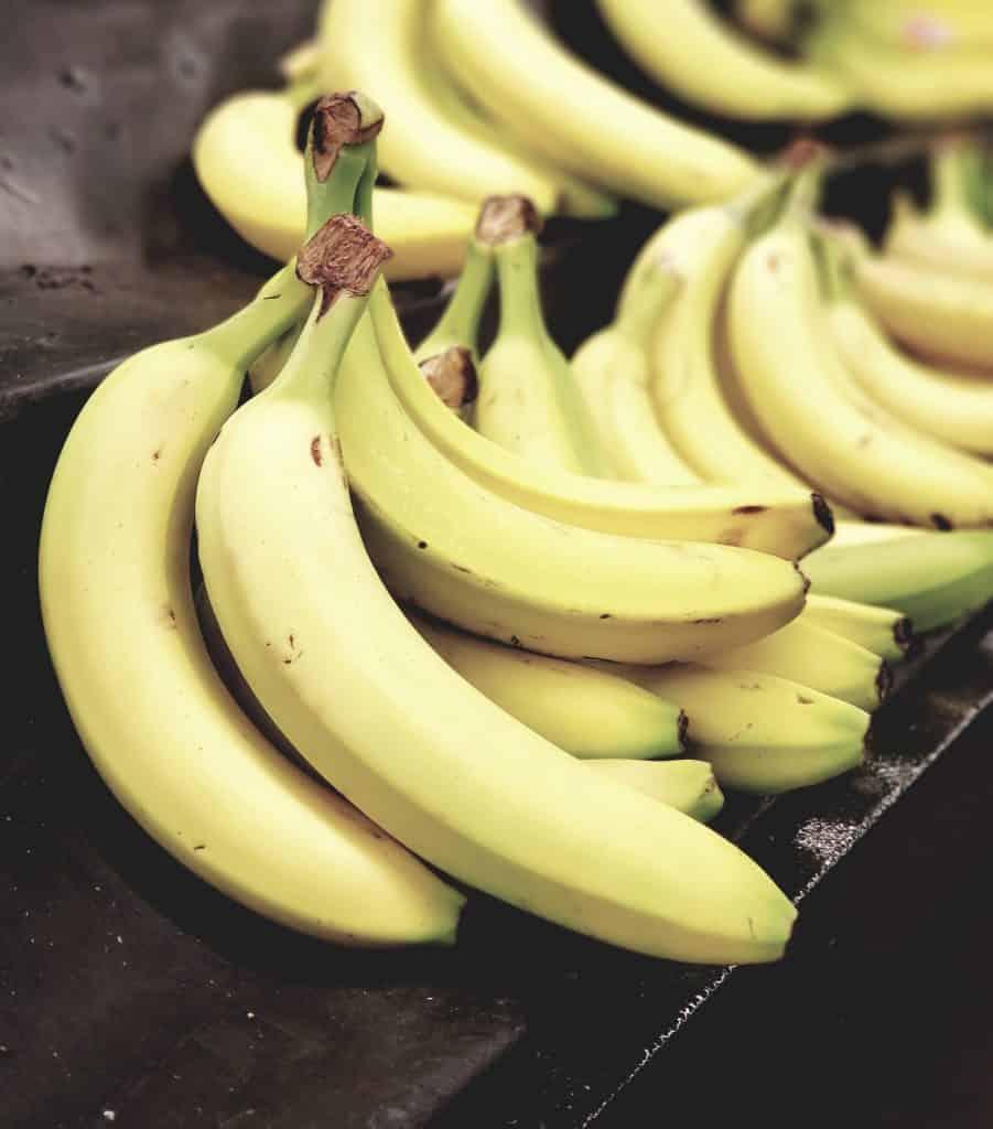 Bananas in bulk at the supermarket